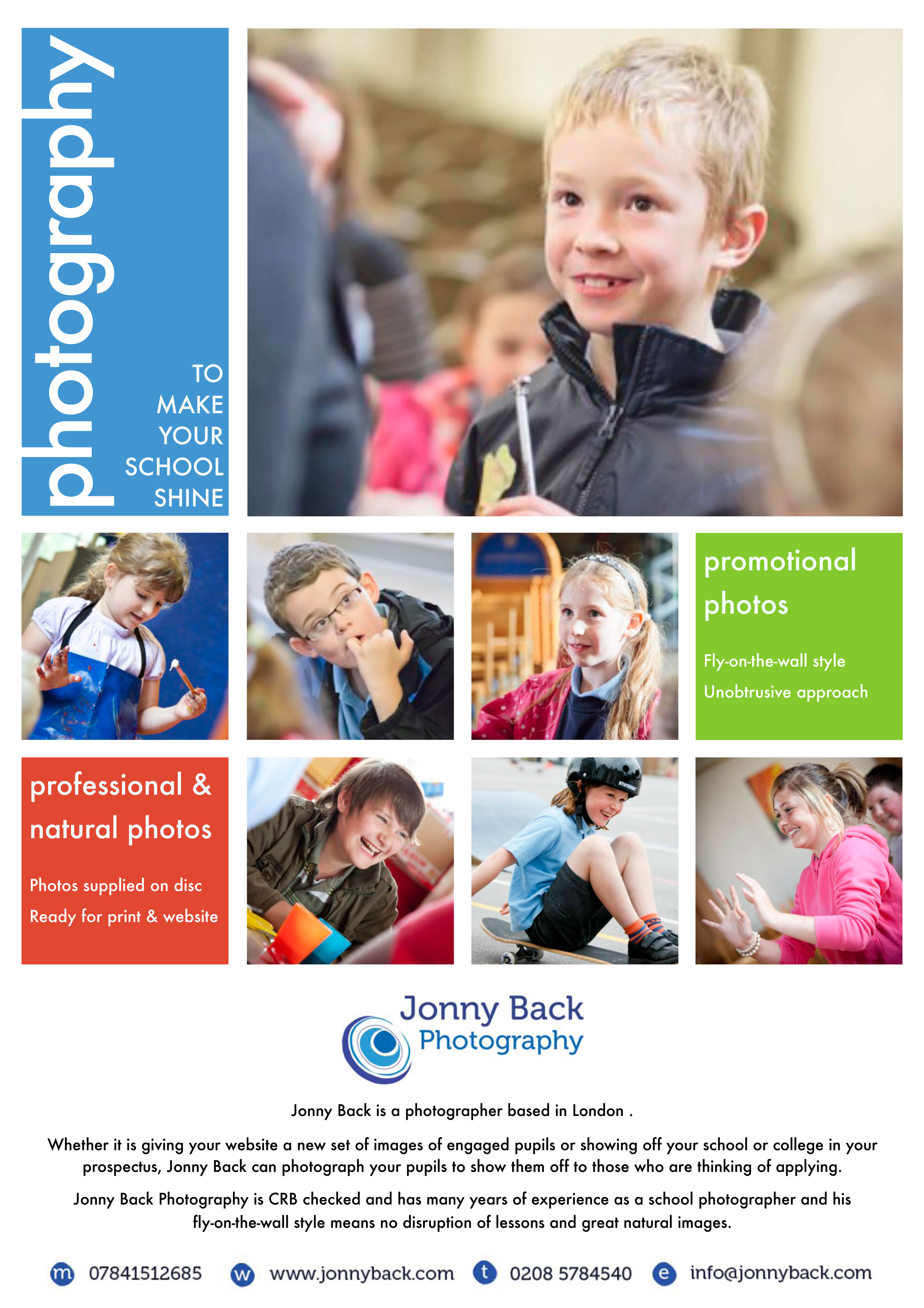Photography for Schools & Colleges